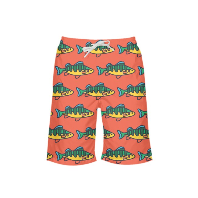 Grapefruit NOPO Perch Boy's Swim Trunks