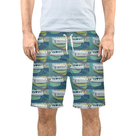 Staggered Tug Men's Swim Trunks