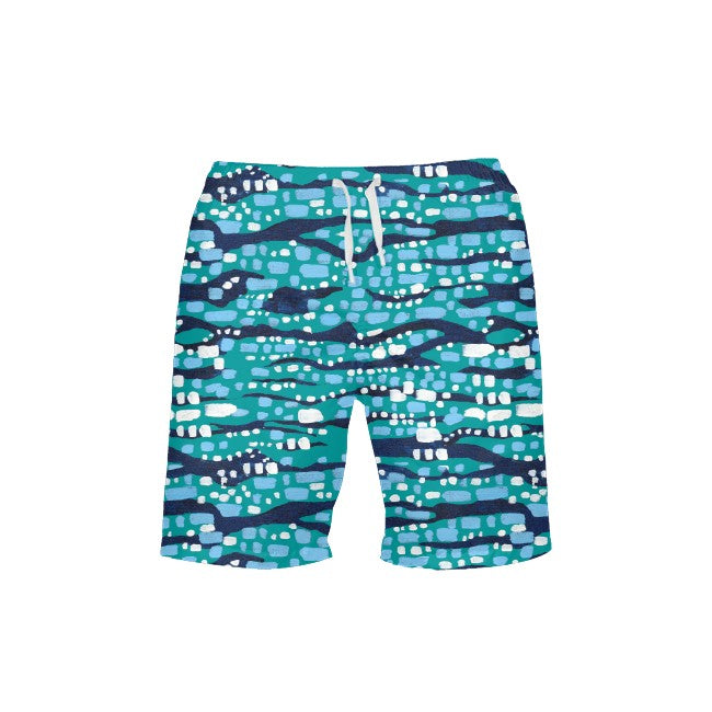Jade Glittering Diamonds Men's Swim Trunks