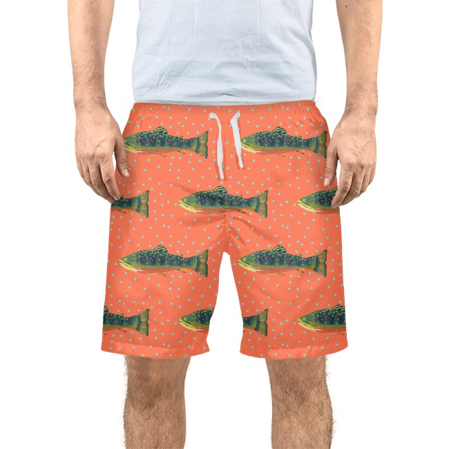 Grapefruit Brook Trout Men's Swim Trunks