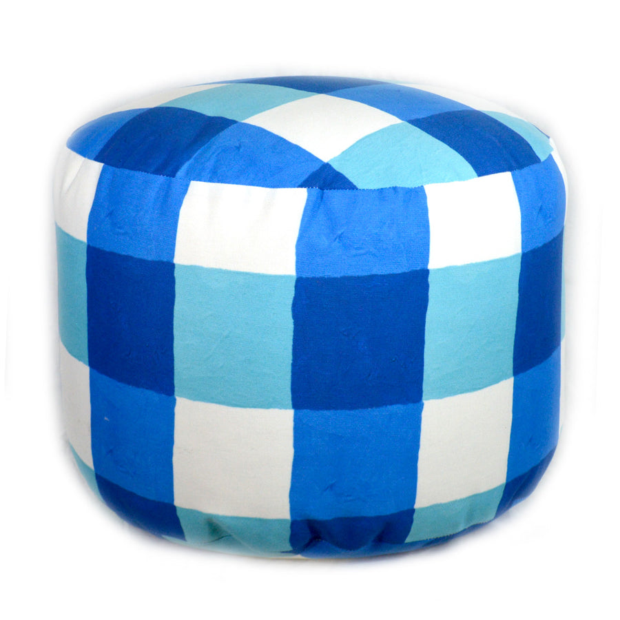 Lake Buffalo Check Overboard Ottoman