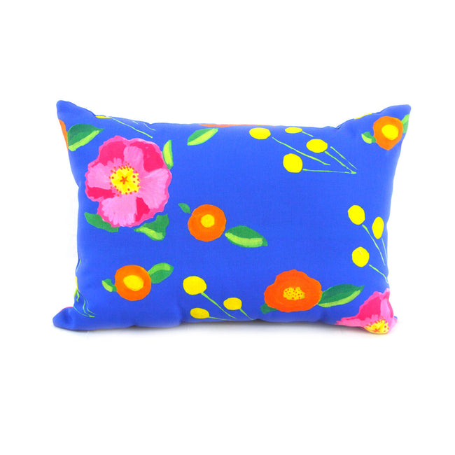 Indigo Katherine's Blooms Outdoor Lumbar Pillow