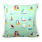 Seagreen Summer Sail Outdoor Square Pillow