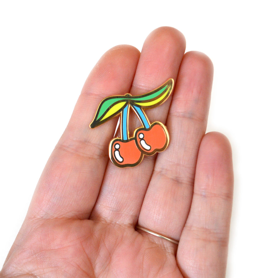 Cherries Cloisonné Pin