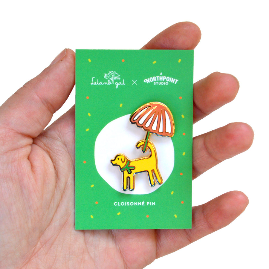 Dog Cloisonné Pin
