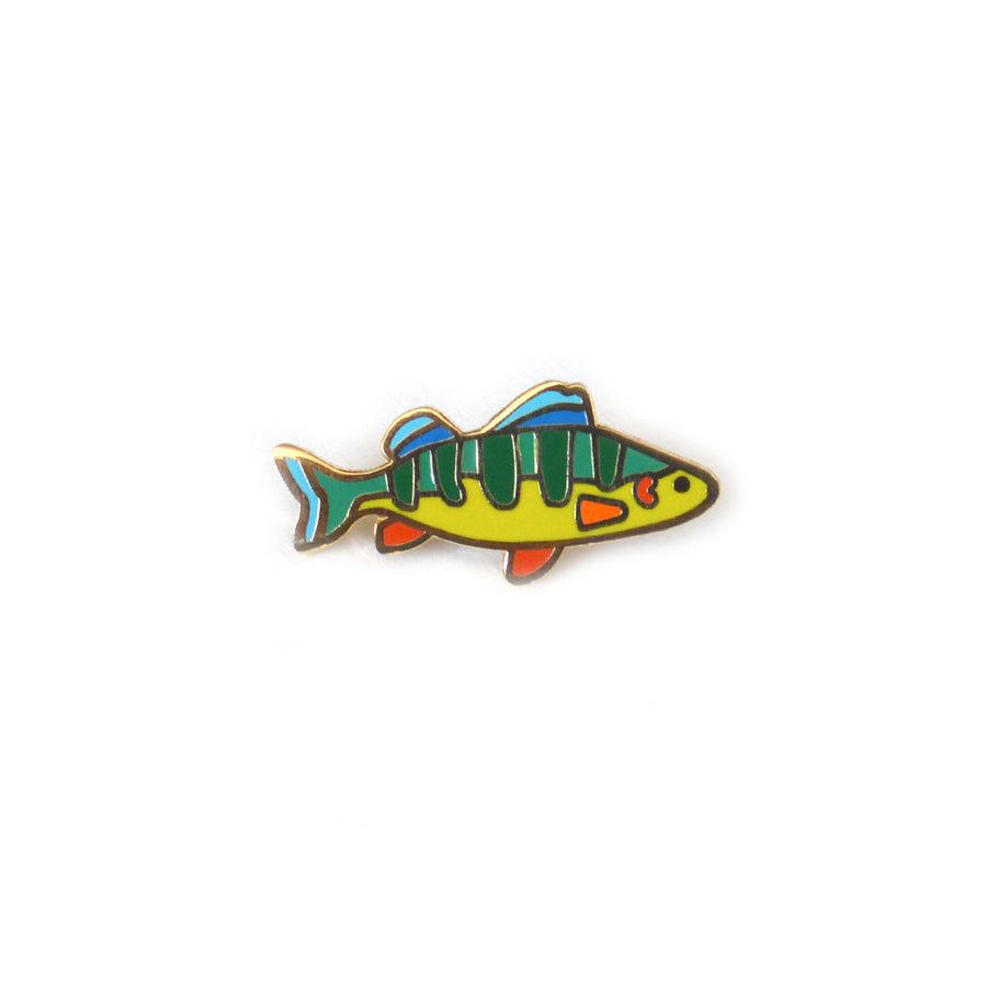 Perch Cloisonné Pin