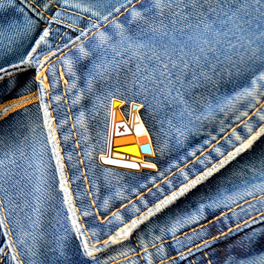 Sailboats Cloisonné Pin