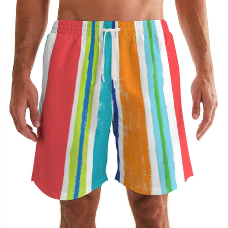 Pinstripe Men's Swim Trunks