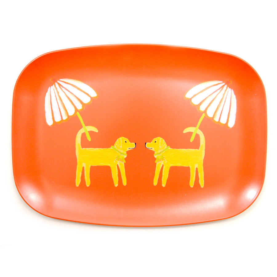 Grapefruit Dog Day Afternoon Melamine Platter