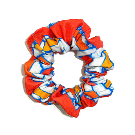 Punch & Coral Lifesaver Scrunchie