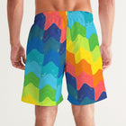 Leland Gal Rainbow Men's Swim Trunks
