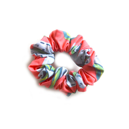 Geranium Tug Lattice Scrunchie