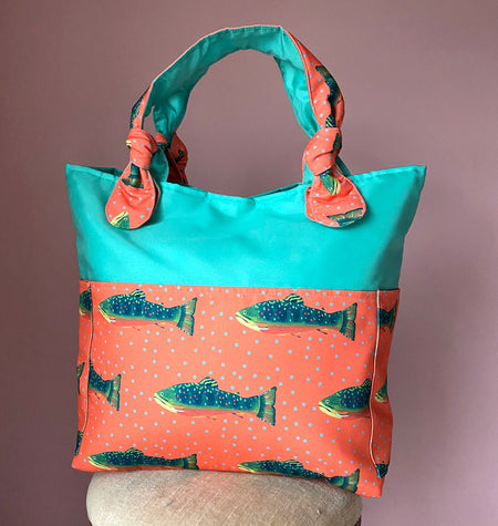 Seafoam/Grapefruit Trout Outside Bag