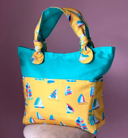Seafoam/Yellow Summer Sail Outside Bag