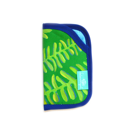 Emerald Floating Fronds Sunglass Case