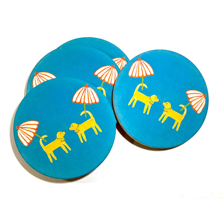 Surf Dog Day Afternoon Coasters