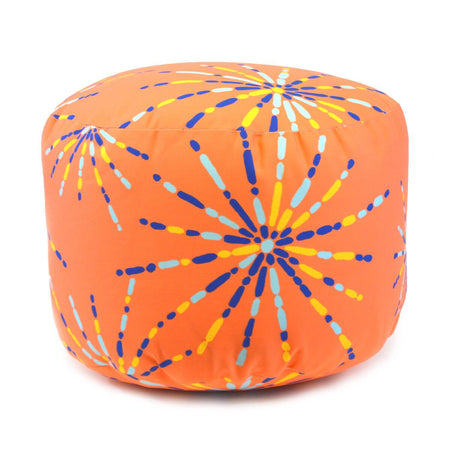 Tangerine Fireworks Overboard Ottoman