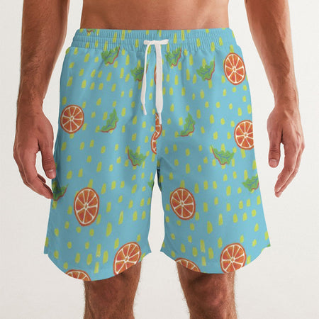 Waterfall Citrus Men's Swim Trunks