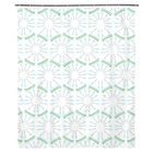 White Canoes and Oars Shower Curtain