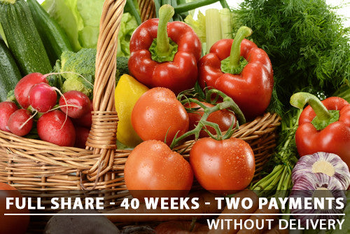 Full Share - 40 Weeks - Two Payments with Pickup
