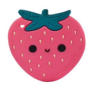 SILICONE TEETHER - STRAWBERRY