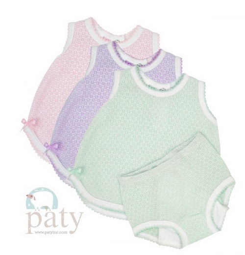 2 PC SET, SLEEVELESS TOP WITH DIAPER COVER - PINK