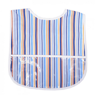 LAMINATED BIB - BLUE STRIPE