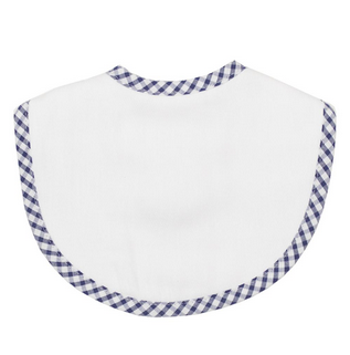 MEDIUM BIB - NAVY CHECK PIQUE
