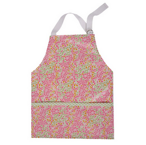 TODDLER SMOCK - PINK LEAF