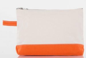 CANVAS MAKEUP BAG - ORANGE