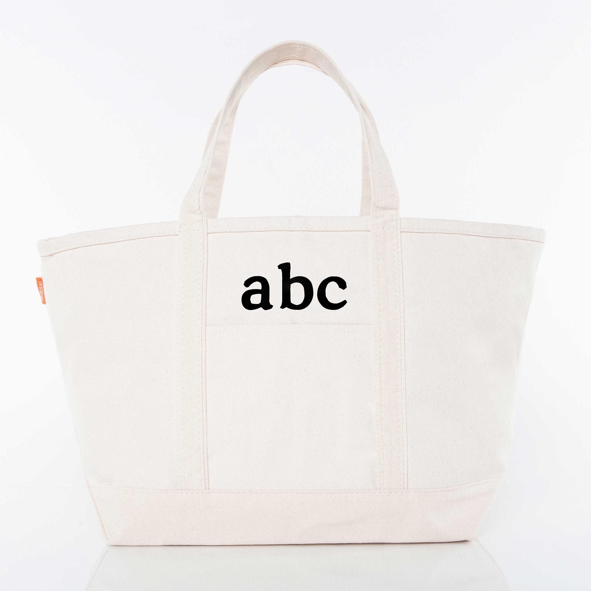 LARGE CANVAS BOAT TOTE - NATURAL
