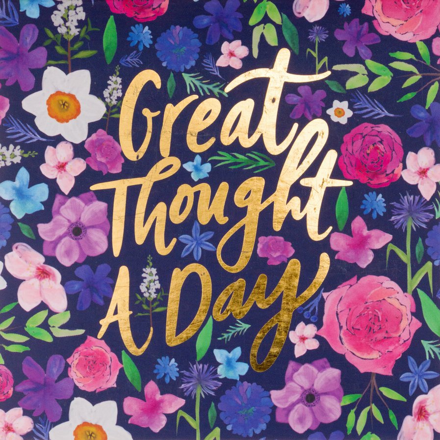 A GREAT THOUGHT A DAY PAD - PURPLE FLORAL