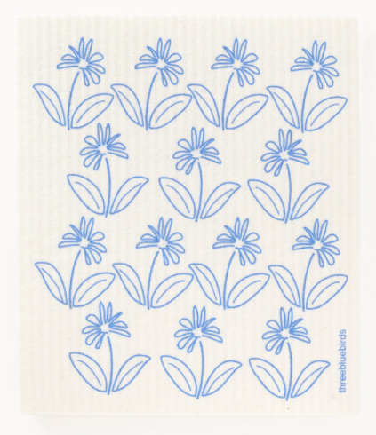 PERIWINKLE PETALS SWEDISH DISHCLOTH