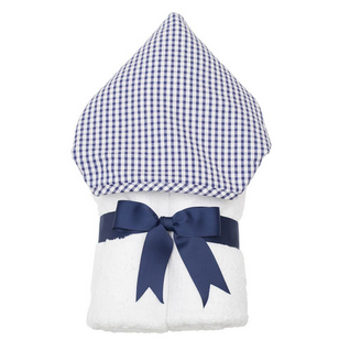 FABRIC EVERYKID TOWEL - NAVY CHECK PIQUE