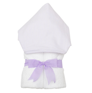 FABRIC EVERYKID TOWEL - LILAC SEERSUCKER STRIPE