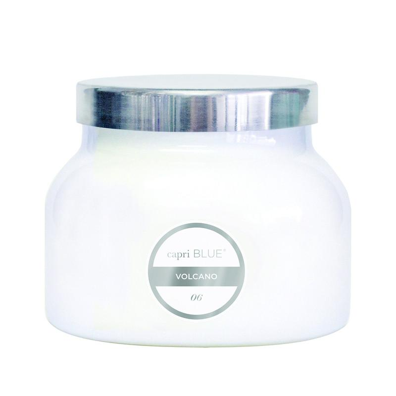 19 OZ WHITE JAR CANDLE - VOLCANO