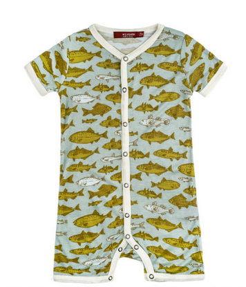 BAMBOO SHORTALL - BLUE FISH