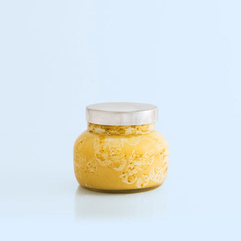 17 OZ GOLD GLITTERED OMBRE HEXAGON JAR - VOLCANO