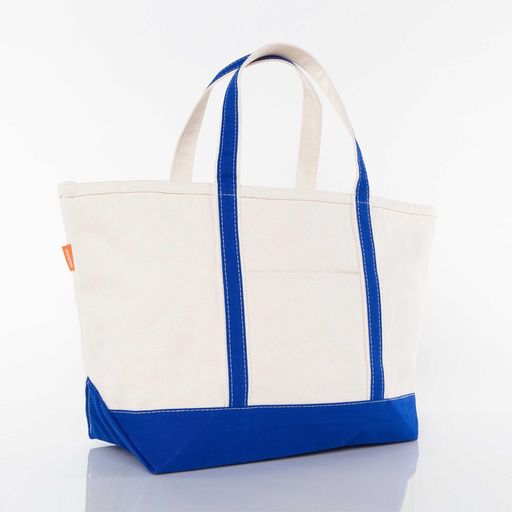 LARGE CANVAS BOAT TOTE - ROYAL BLUE