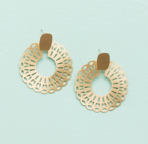GOLD BLAKELY EARRING