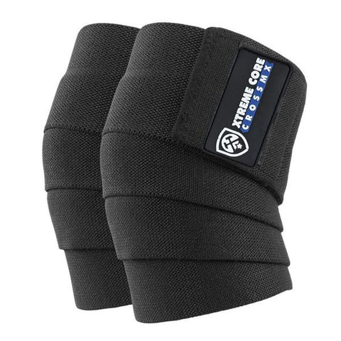 Knee Wraps Negras - Xtreme Core Crossfit