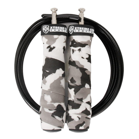 Cuerda rubber handle Camo negra - Xtreme Core Crossfit