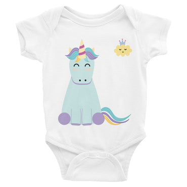 Sleeping Unicorn and Cloud Infant Bodysuit