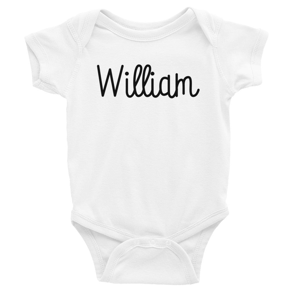 William Infant Baby Onesie Bodysuit