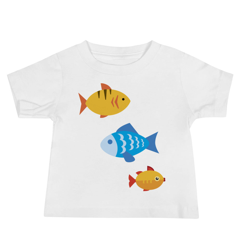 Swimming School of Fish Baby Jersey Short Sleeve Tee