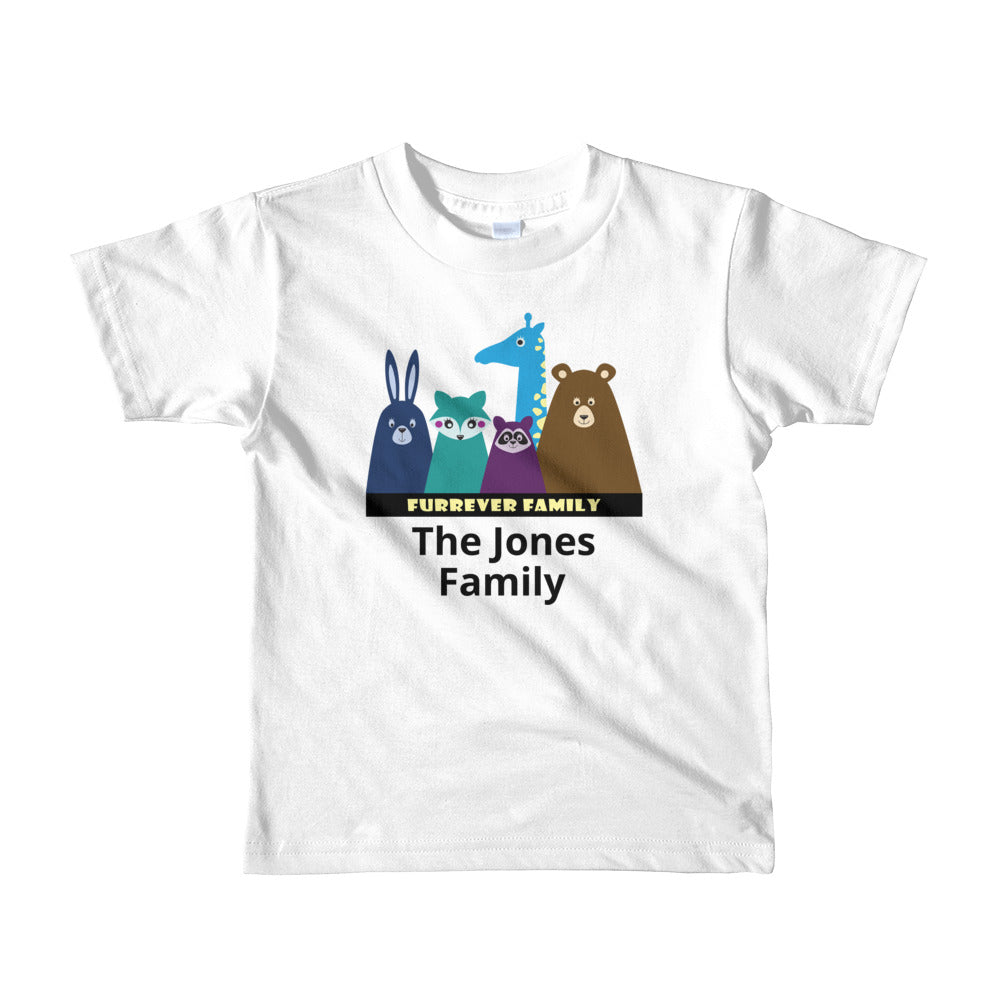 FURRever Family Personalized Short Sleeve Kids T-Shirt