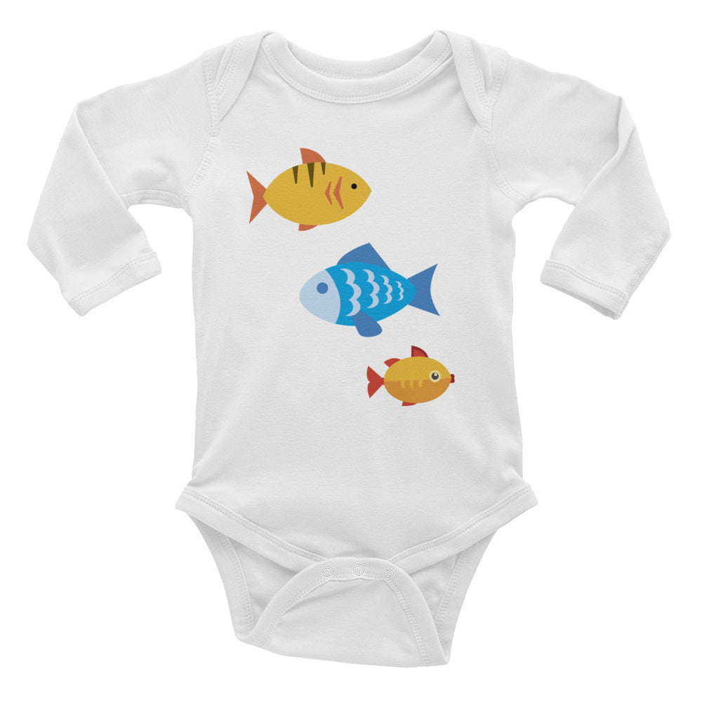 Swimming School of Fish Infant Long Sleeve Bodysuit