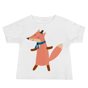 Scarf Wearing Fox Baby Jersey Short Sleeve Tee