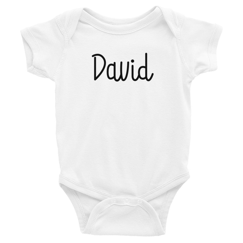 David Infant Baby Onesie Bodysuit