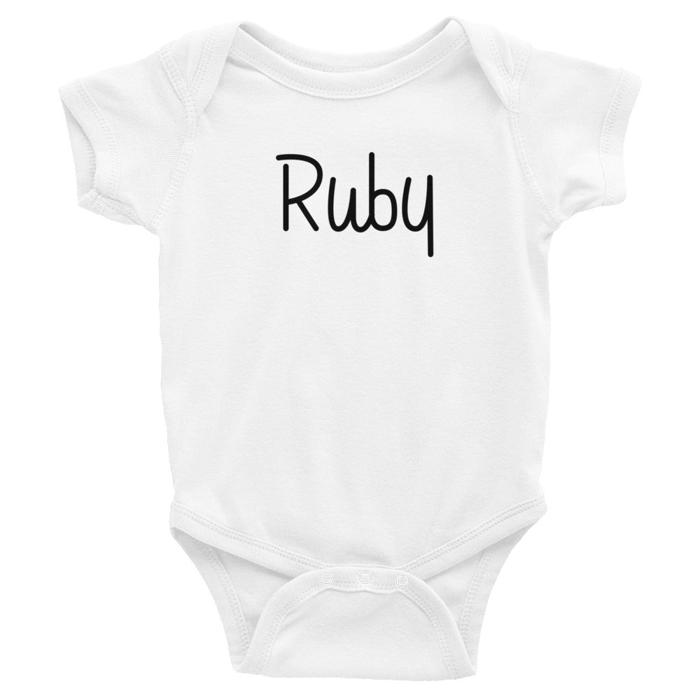 Ruby Infant Baby Onesie Bodysuit